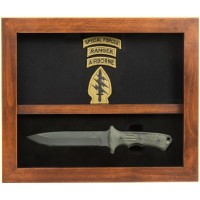 Yarborough Knife Box - Military Display Box - Deep Shadow Box - Custom Display Designs