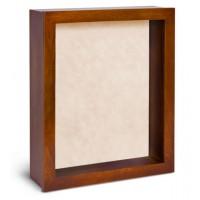 Shadow Box Frame - Cherry Honey Shadow Box - Contemporary Deep Shadow Box - Custom Framing Designs, USA