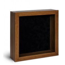 Shadow Box Frame - Dark Oak Shadow Box - Contemporary Deep Shadow Box - Custom Framing Designs, USA