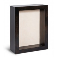 Shadow Box Frame - Ebony Shadow Box - Contemporary Deep Shadow Box - Custom Framing Designs, USA