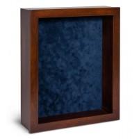 Shadow Box Frame - Mahogany Shadow Box - Contemporary Deep Shadow Box - Custom Framing Designs, USA