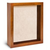 Shadow Box Frame - Pecan Shadow Box - Contemporary Deep Shadow Box - Custom Framing Designs, USA